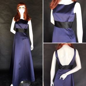Dresses & Skirts - Navy blue satin ball gown